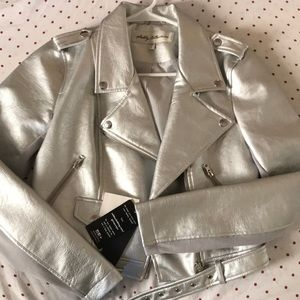 Never worn silver metallic jacket!